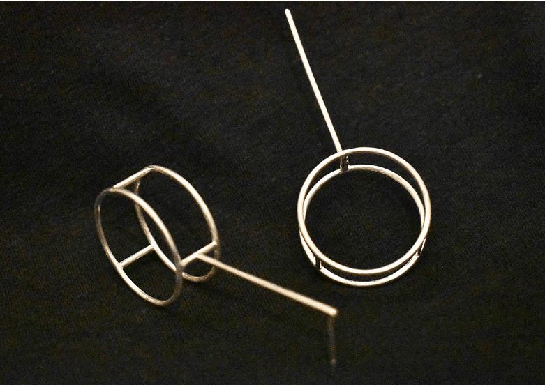 Circus Silver Earring By Doramenda