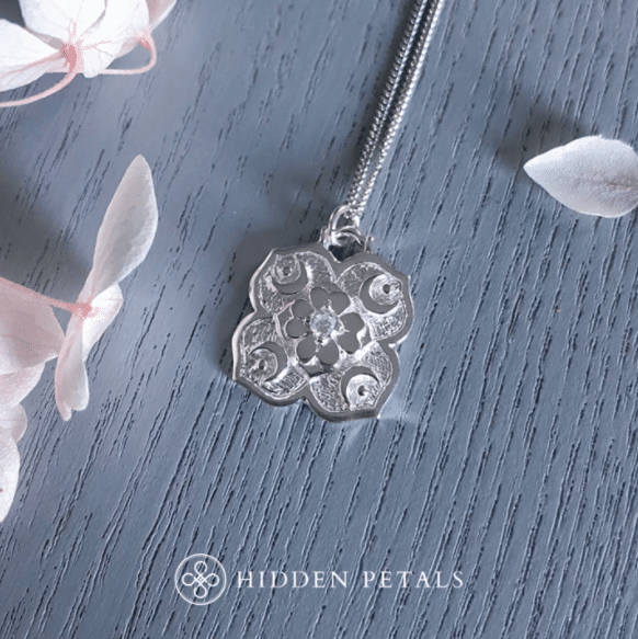 Cosmic Dreamer White Silver Necklace By Hidden Petals