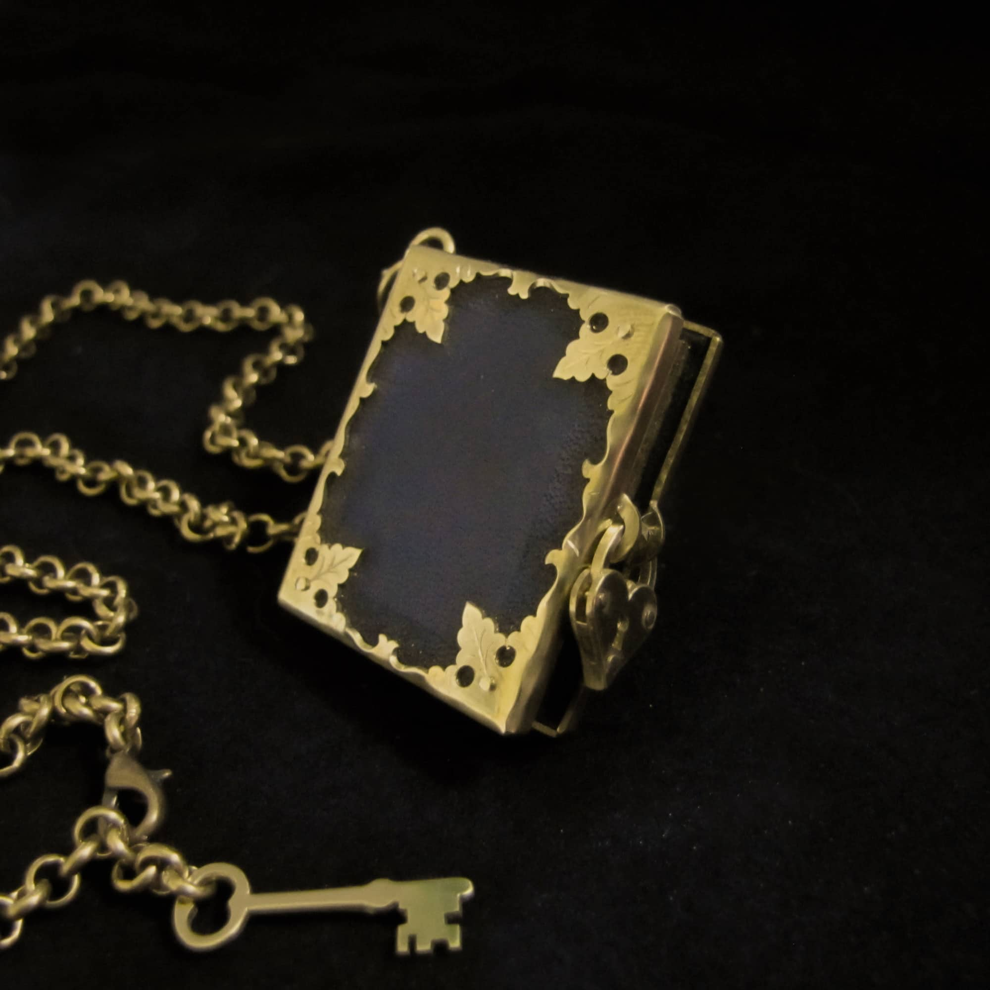 Book Of Secrets – Leather And Brass Locket By Skadi Jewellery Design