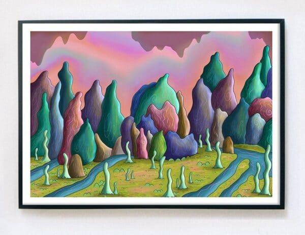 a4-giclee-fine-art-print-warping-plains-by-kell-kitsch-by-kellkitsch