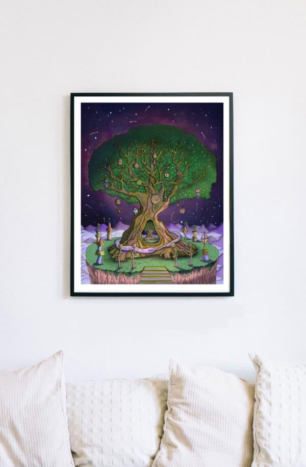 16x20-framed-giclee-fine-art-print-ouroboros-by-kell-kitsch-by-kellkitsch