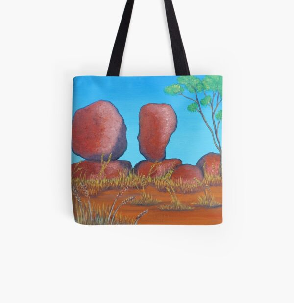 devils-marbles-tote-bag-by-Gems Artistic Creations