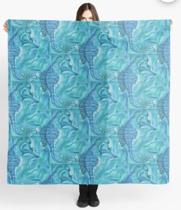 seahorse-scarf-by-Gems Artistic Creations