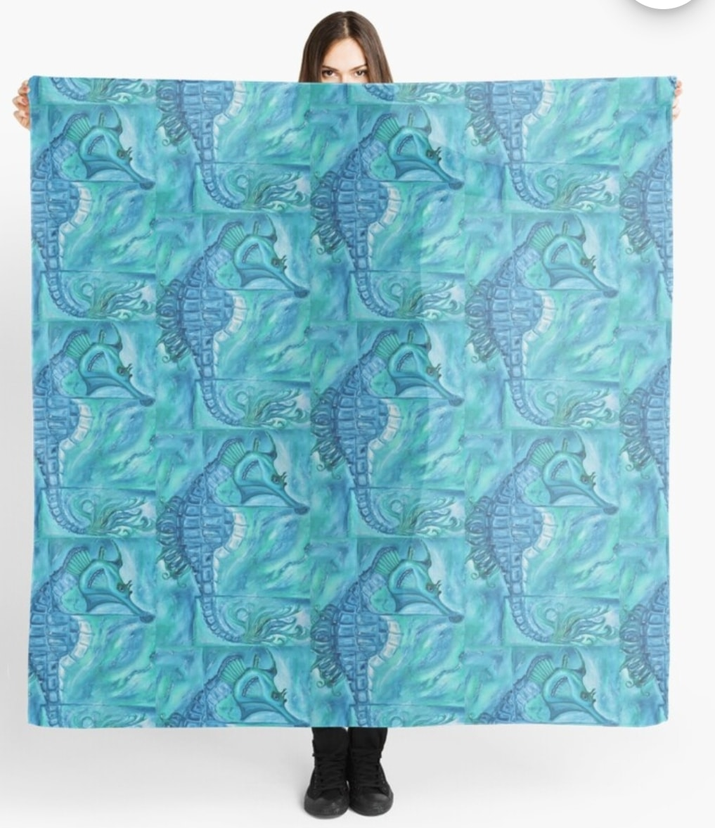 Seahorse Scarf By Gem's Artistic Creations