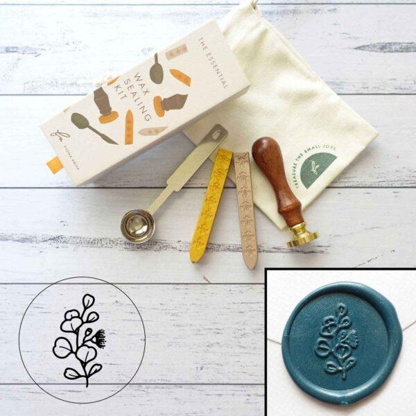 wax-sealing-set-eucalyptus-stamp-wax-sticks-spoon-by-fiona-ariva-by-fionaariva
