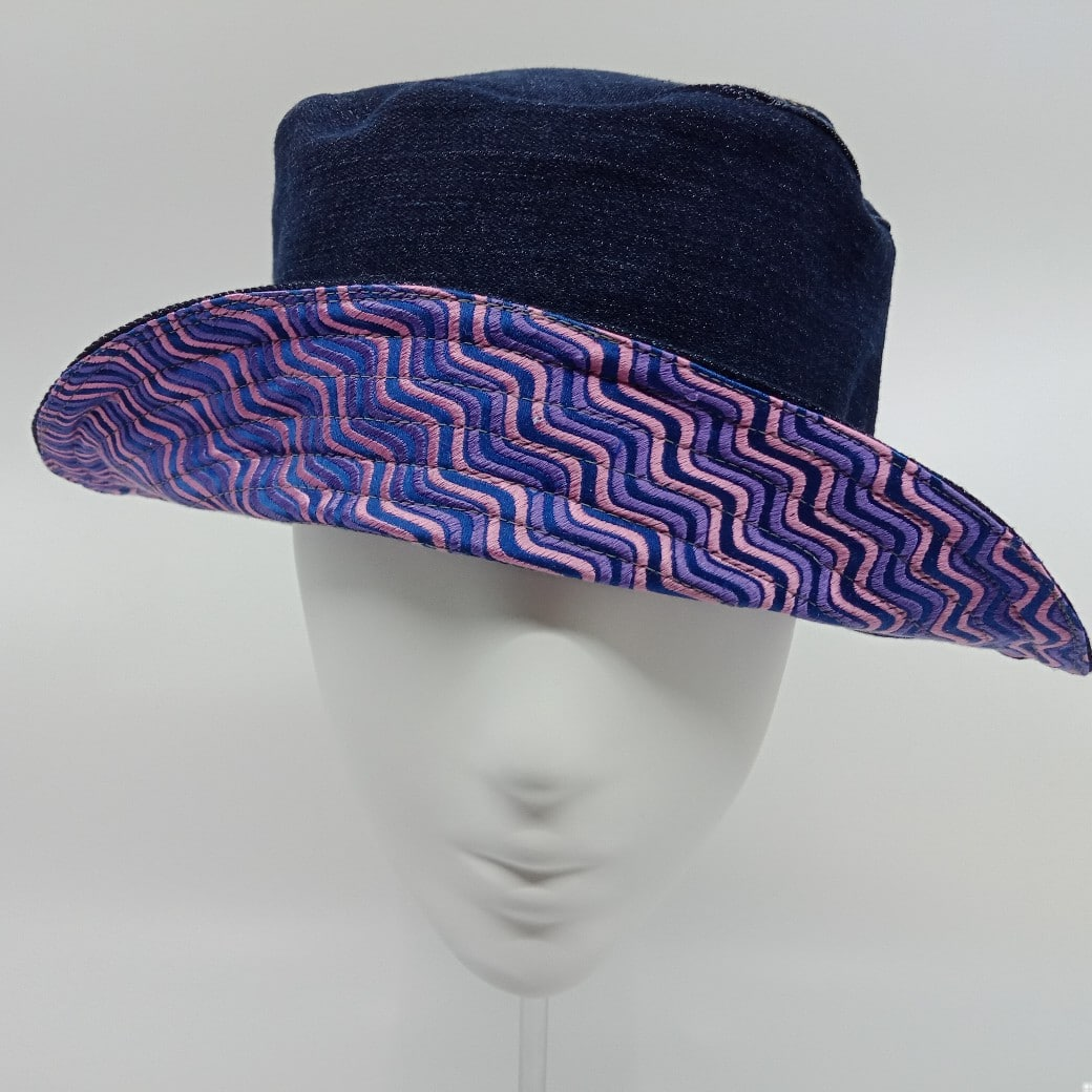 Elegant Reversible Bucket Hat By Judith Scott Upcycling