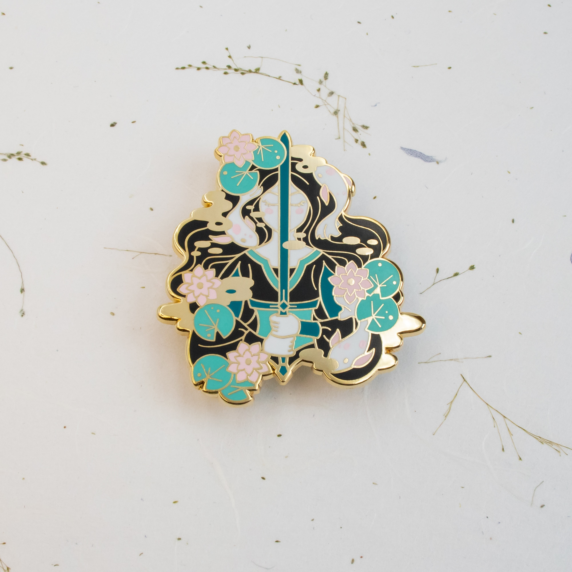 Lady Of The Lake Enamel Pin (Green) By Oh Jessica Jessica