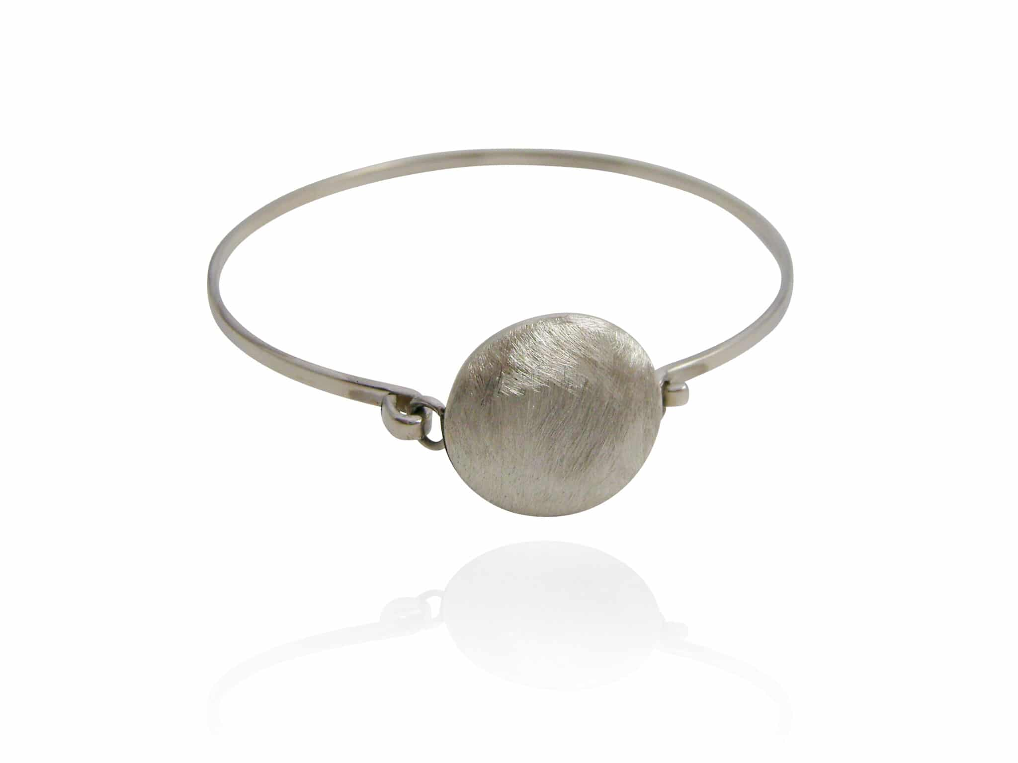 UNISEX Satin Finish Circle Cuff Bangle.  By Sterling Silver 925