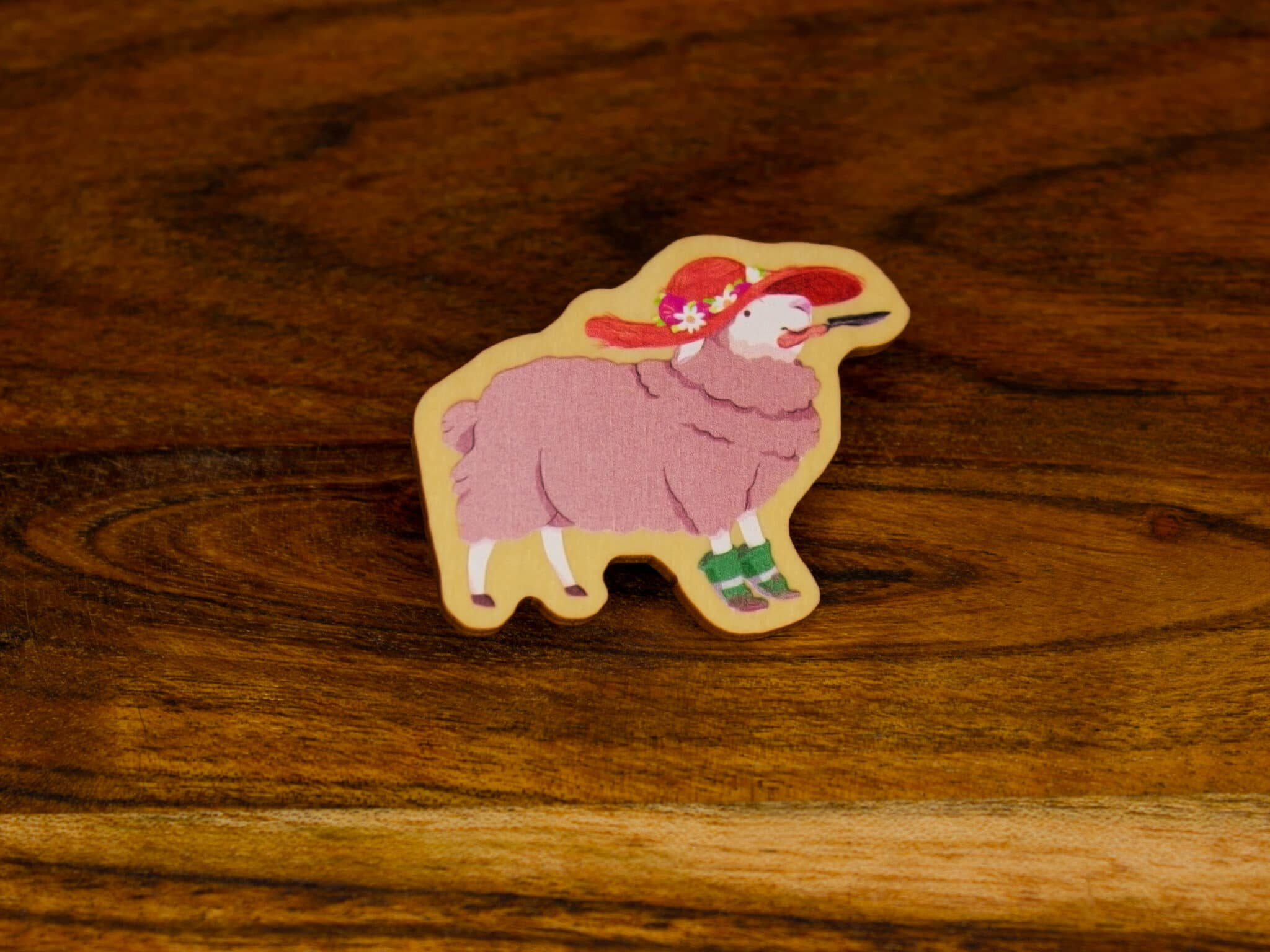 Sheep Wood Pin By Beth Parow Illustration & Design