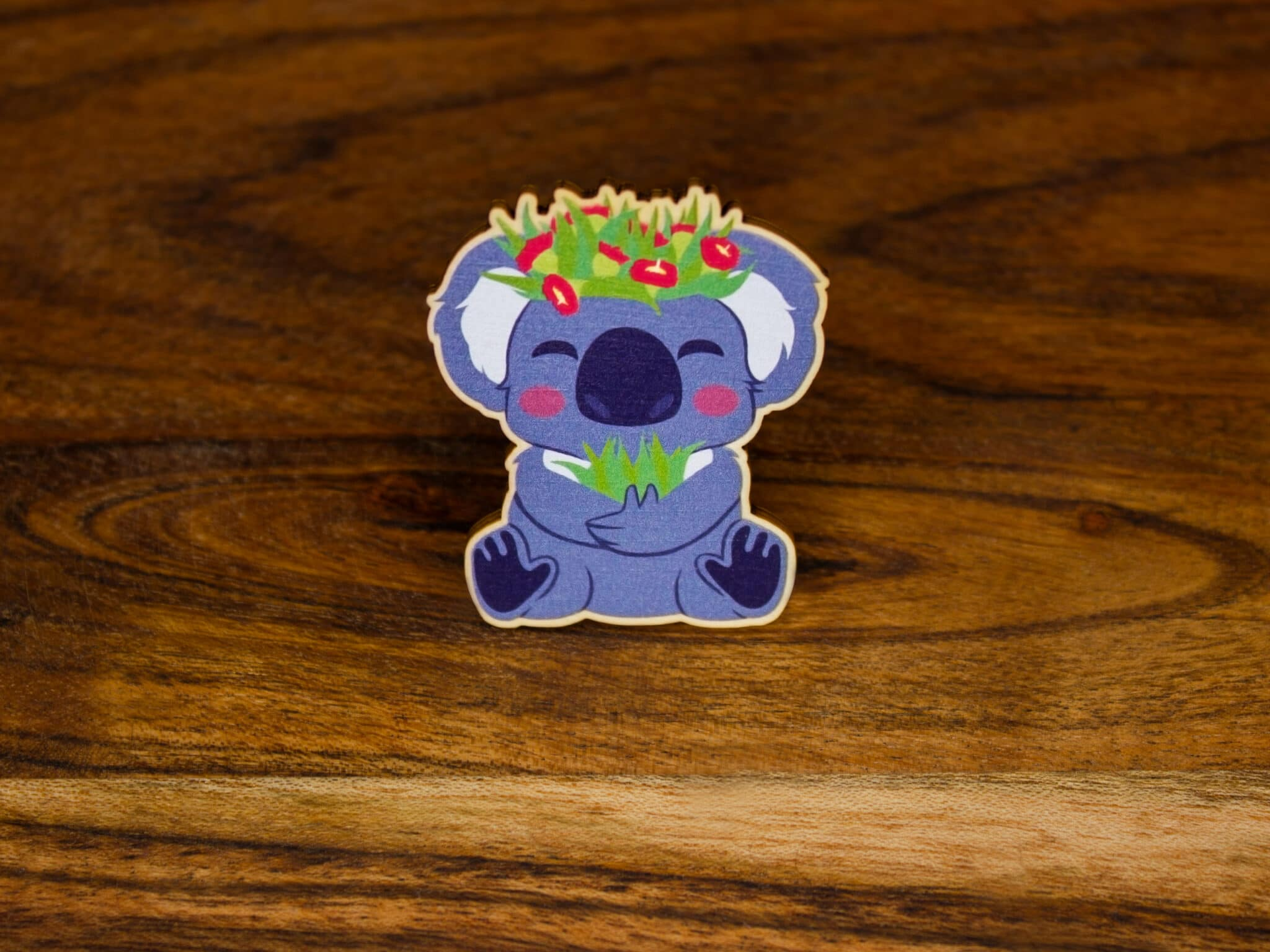 Koala Wood Pin By Beth Parow Illustration & Design