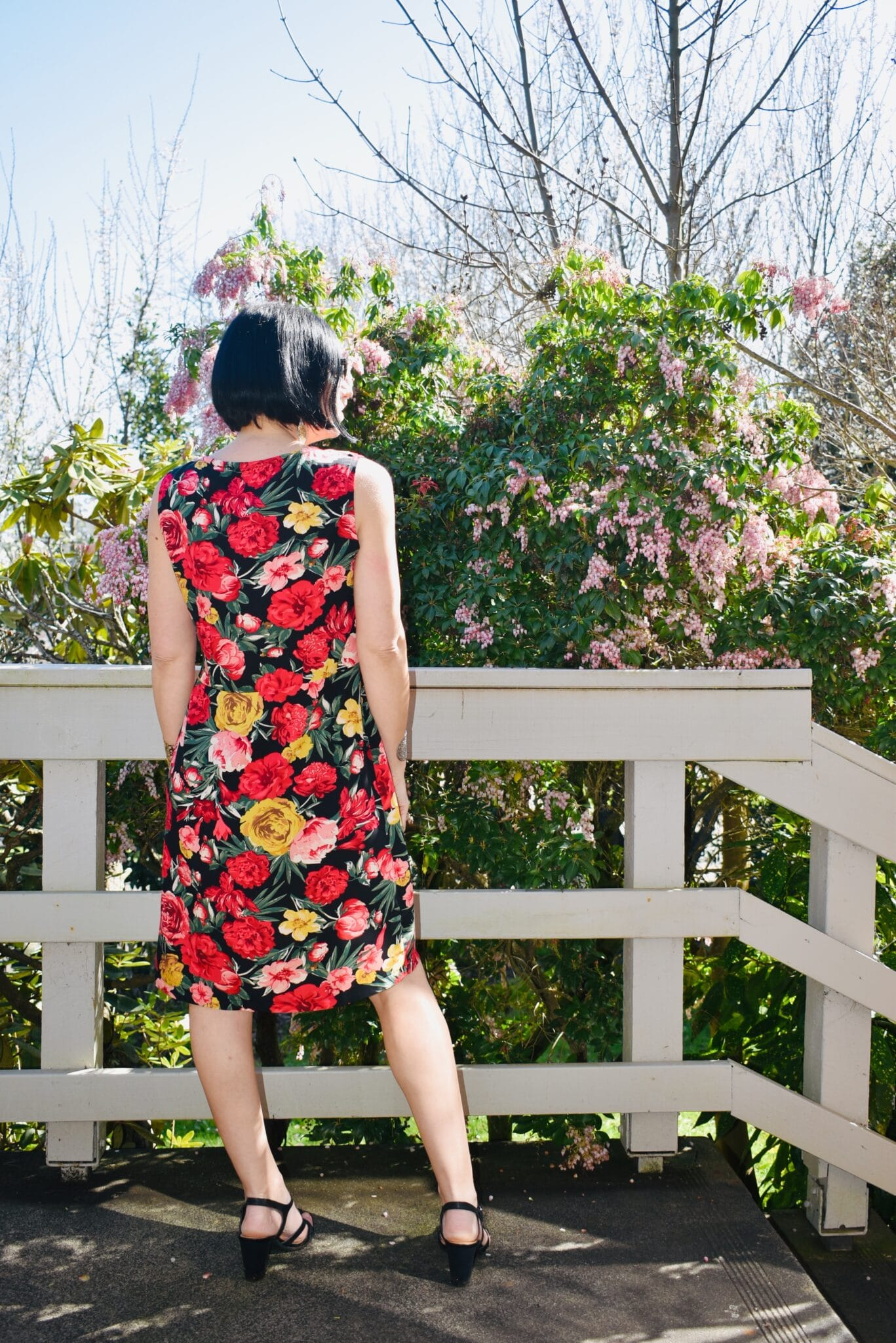 Rose Garden Twiggy Dress In Rayon By Studio Southside