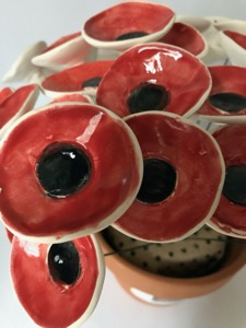 Ceramic Flowers, Red Poppies By Iggiruss Designs
