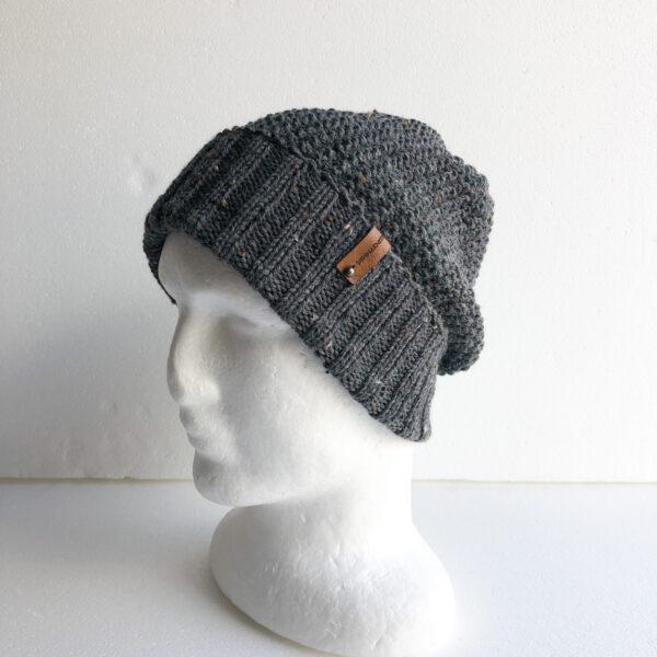 men-speckled-dark-grey-wool-knit-beanie-with-foldable-brim-by-siennaknits-by-siennaknits