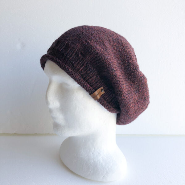 100-wool-burgundypurpleblack-knit-women-slouchy-beanie-with-roll-up-brim-by-siennaknits-by-siennaknits