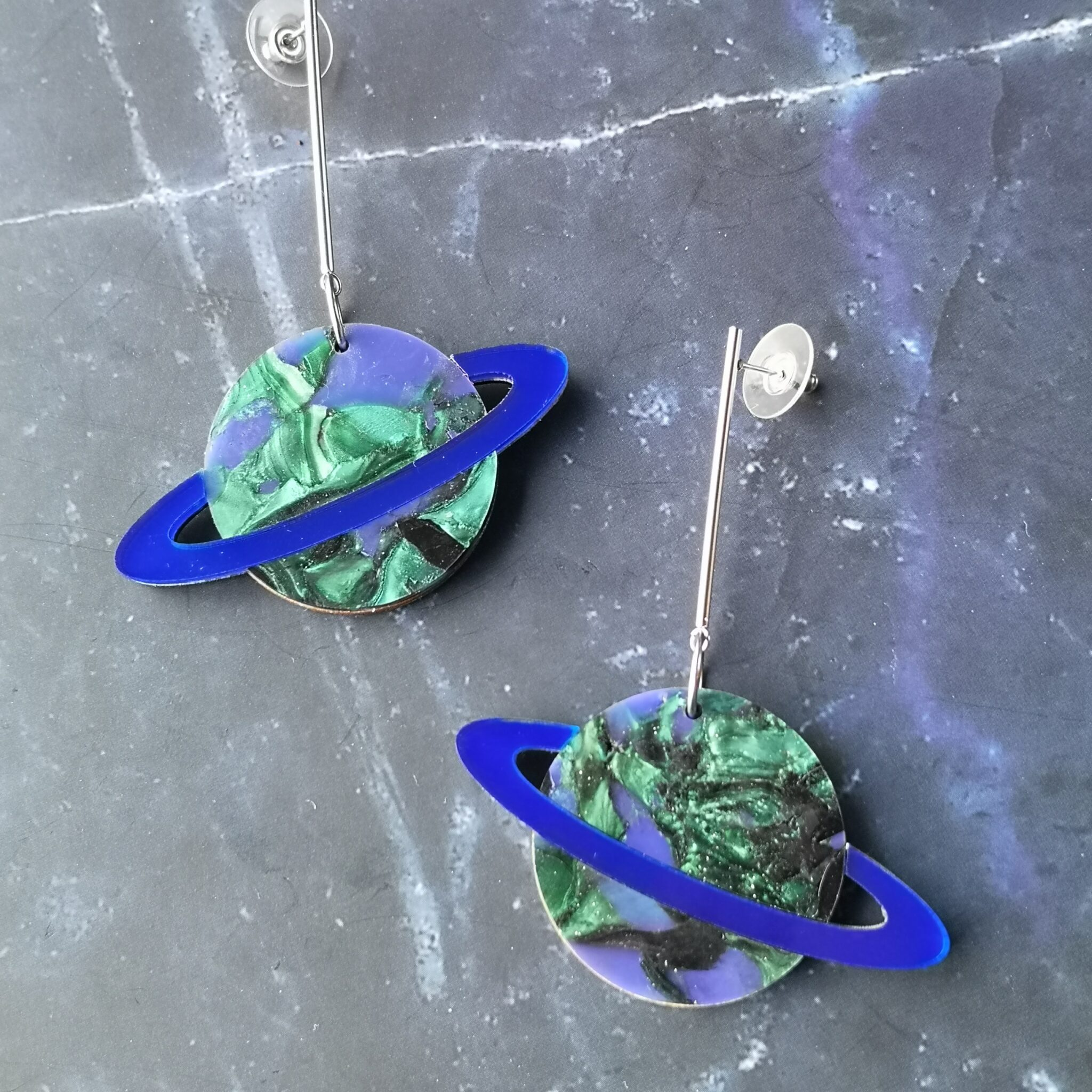 In Orbit Recycled Planet Earrings – Not Quite Earth 02 By Celestial Closet