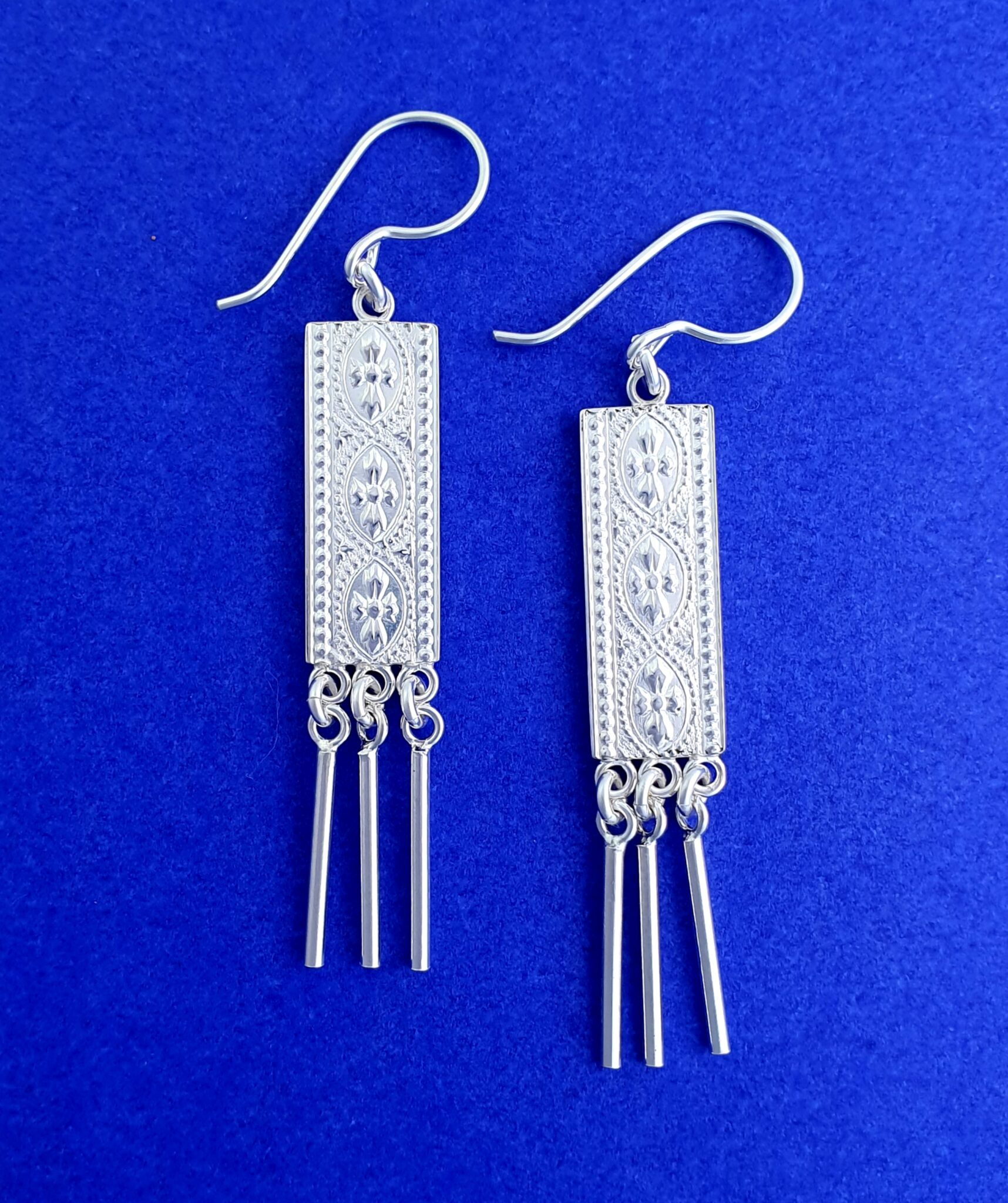 """""""Gallery Sticks"""" Sterling Silver Earrings By Flying Lobster Jewellery"""