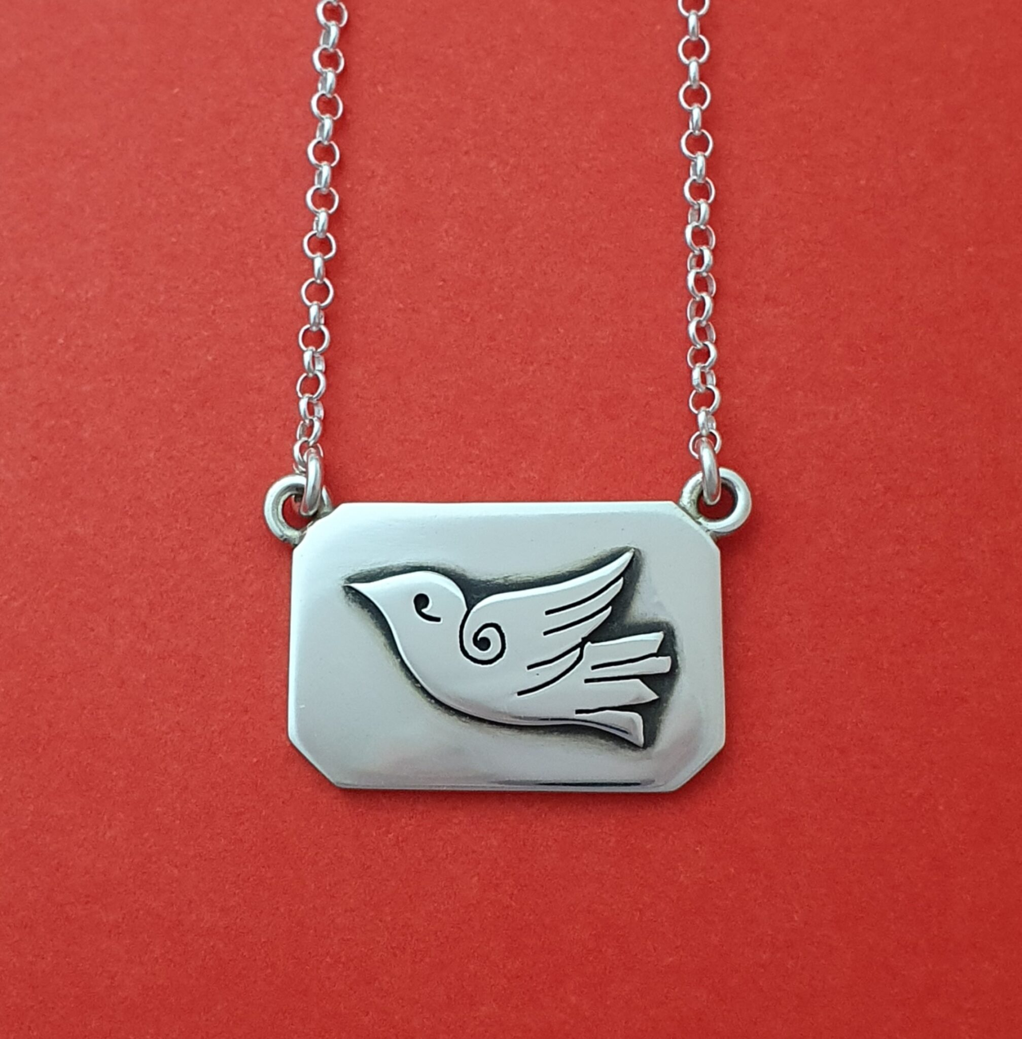 """""""Dove"""" Sterling Silver Pendant By Flying Lobster Jewellery"""