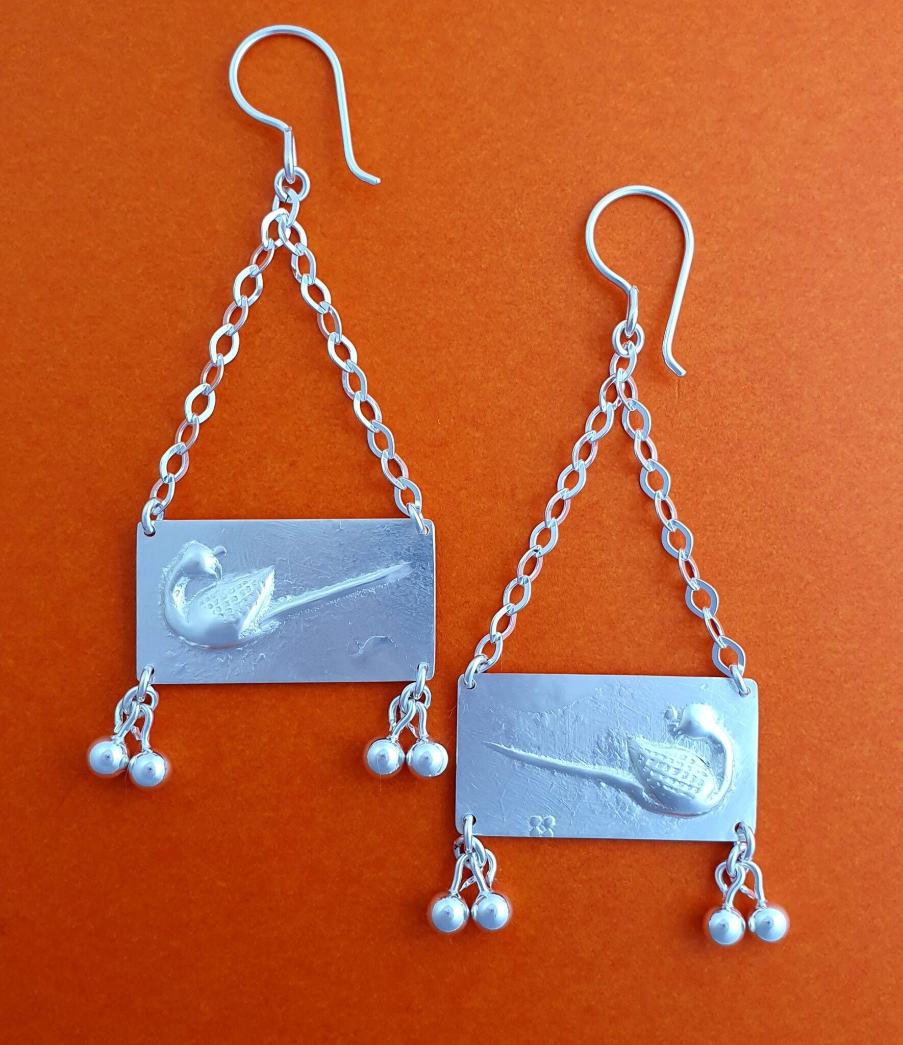 """""""Duck Weight"""" Sterling Silver Earrings By Flying Lobster Jewellery"""
