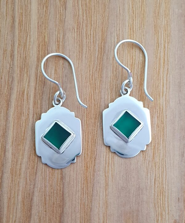 vintage-arch-sterling-silver-and-green-agate-earrings-by-flying-lobster-jewellery-by-flyinglobster