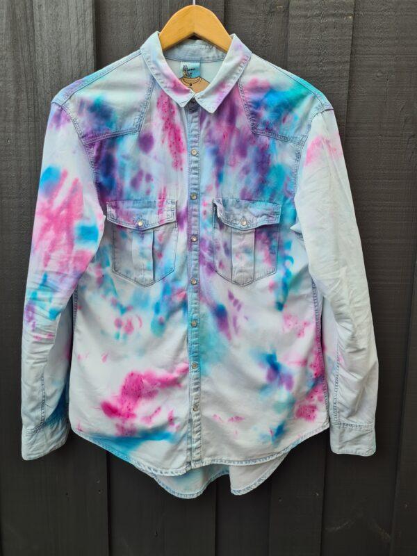 womens-dyed-light-denim-shirt-by-beingbenign