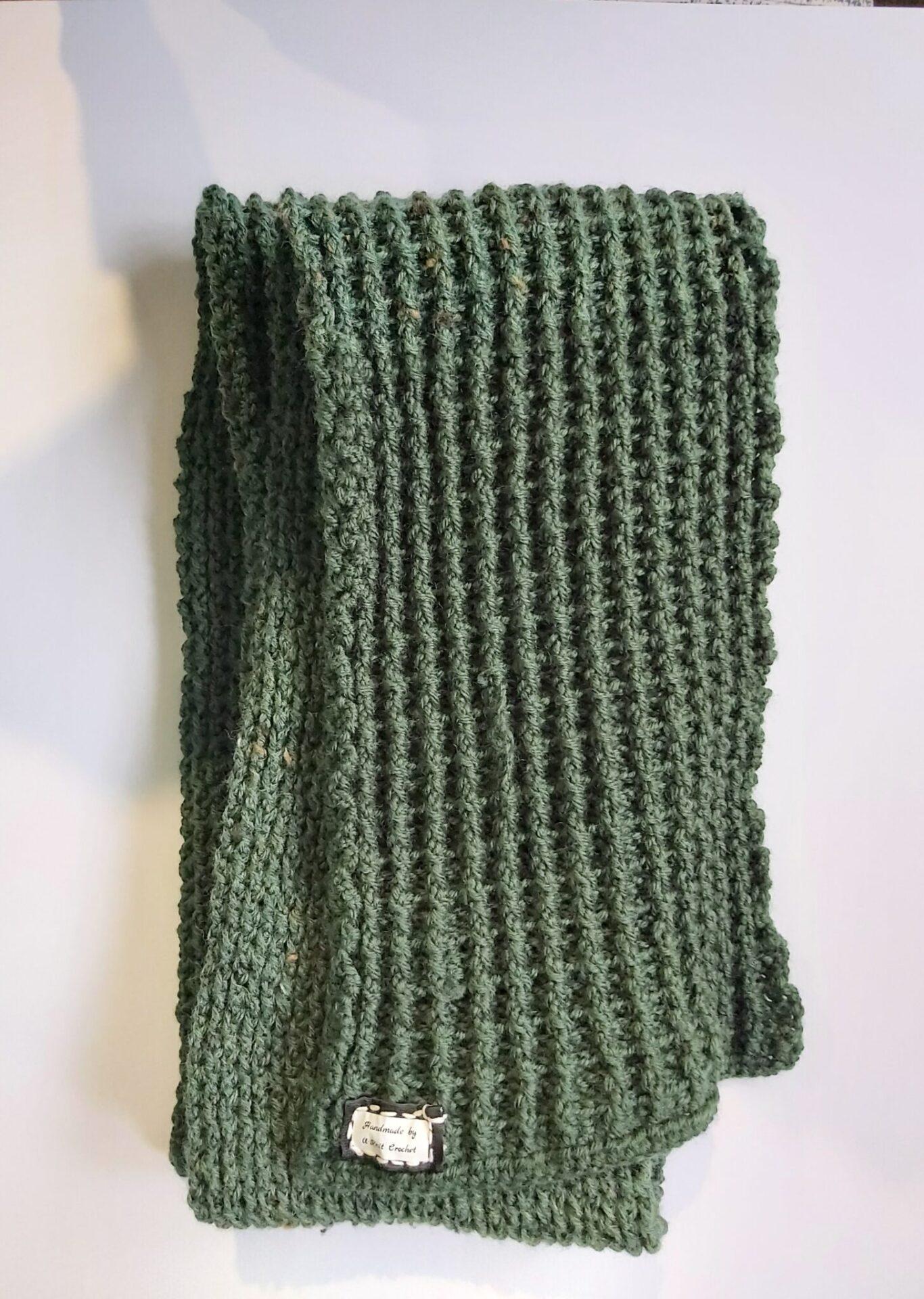 Emerald Scarf Handmade By U-Knit Crochet