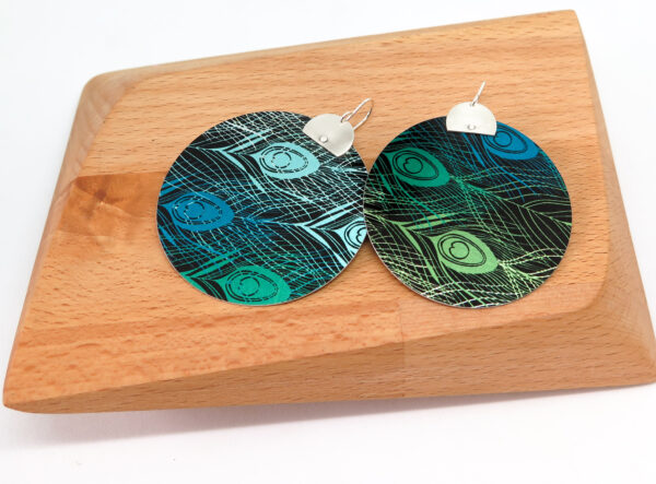 emerald-peacock-dye-sublimation-earrings-by-germanoarts-by-Germano Arts