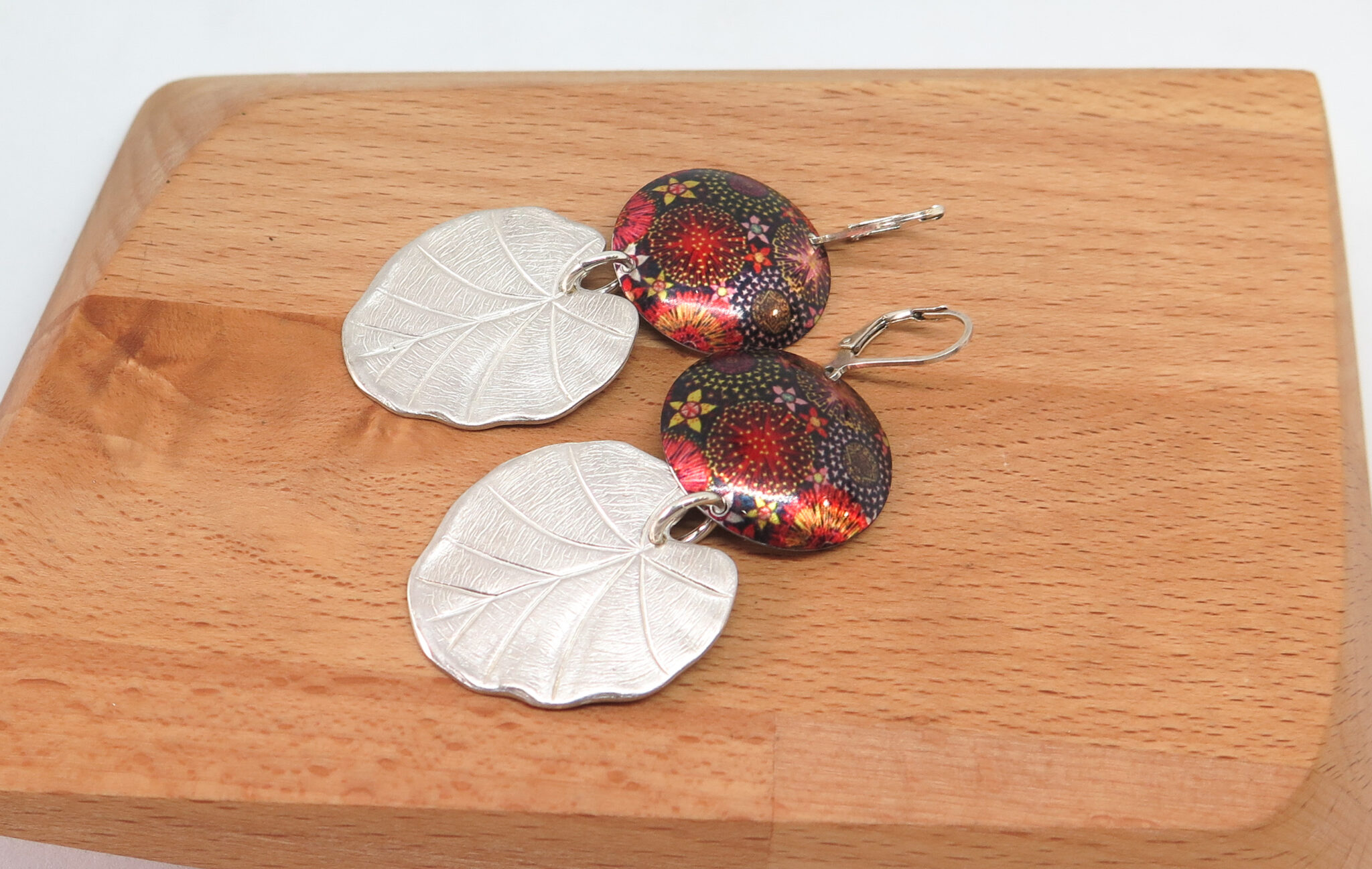 Funky Floral Dye Sublimation Earrings By GermanoArts