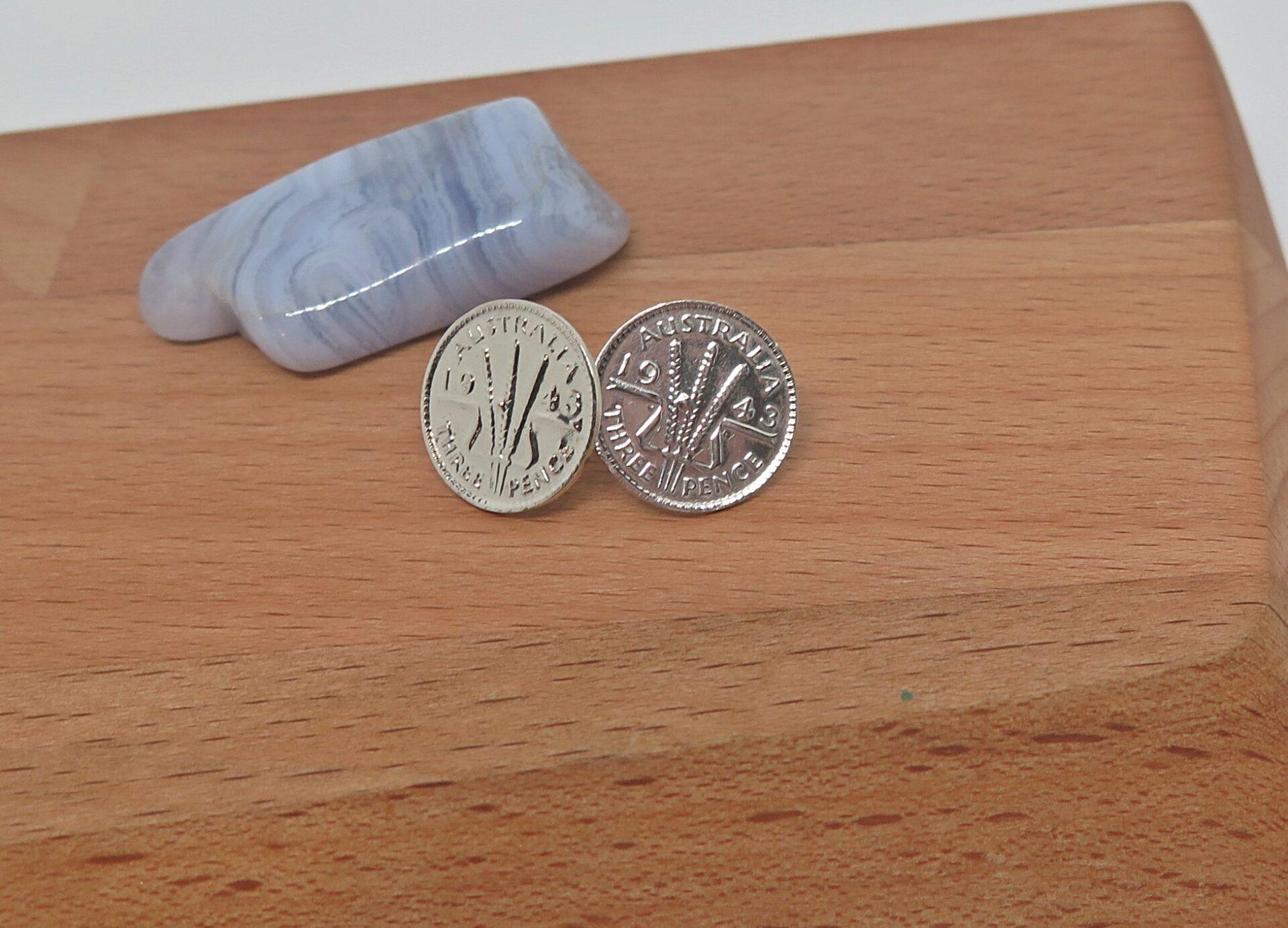 Australian Coin Stud Earrings By GermanoArts