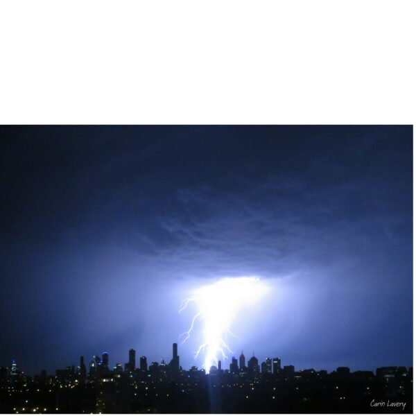 boom-spectacular-storm-and-lightning-over-melbourne-by-local-artist-carin-lavery-by-Carin Lavery