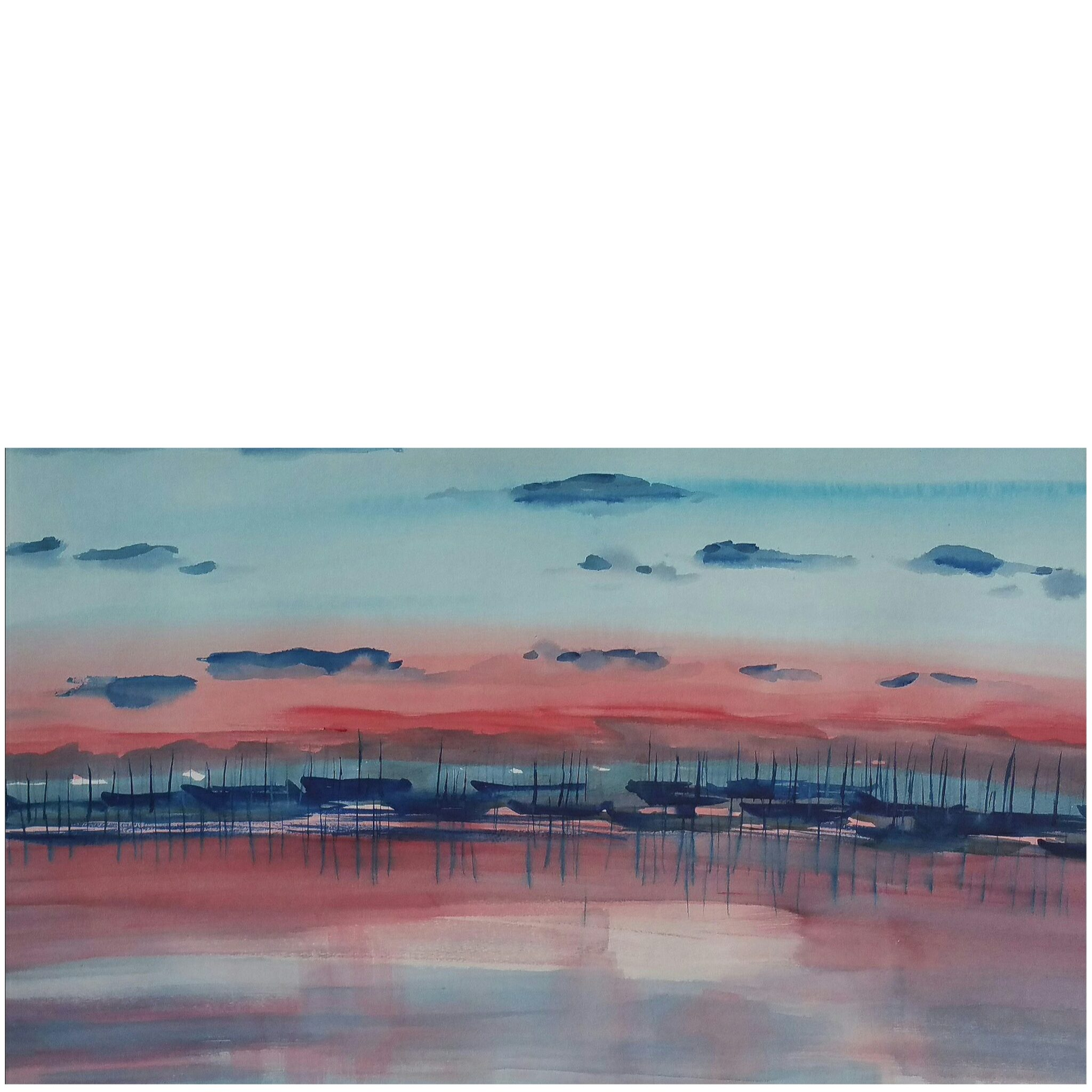 The Soft Colours Of St Kilda Twilight, At Royal Melbourne Yacht Squadron In Port Phillip, By Carin Lavery