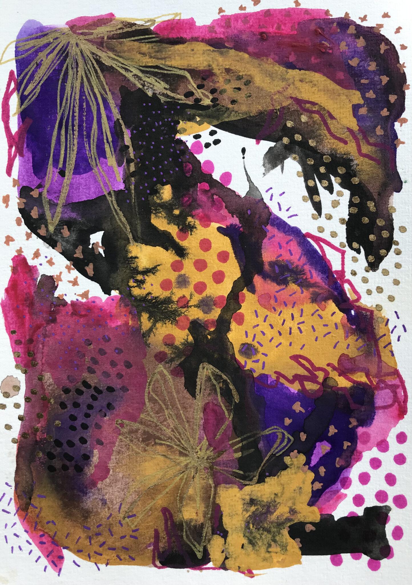Hot Mess 1 – Mixed Media Original Artwork By Tish Willo Creative