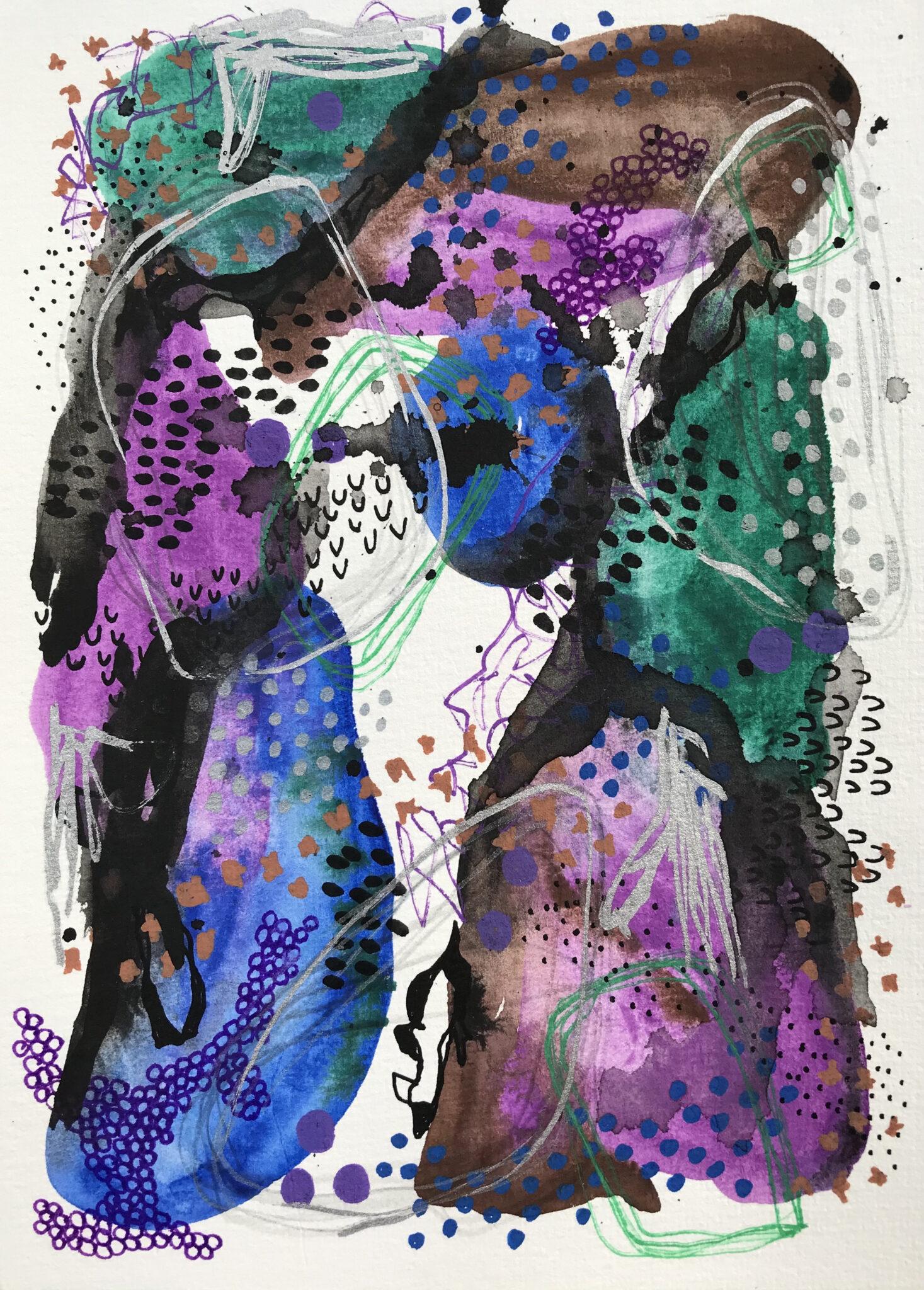 Hot Mess 2 – Mixed Media Original Artwork By Tish Willo Creative