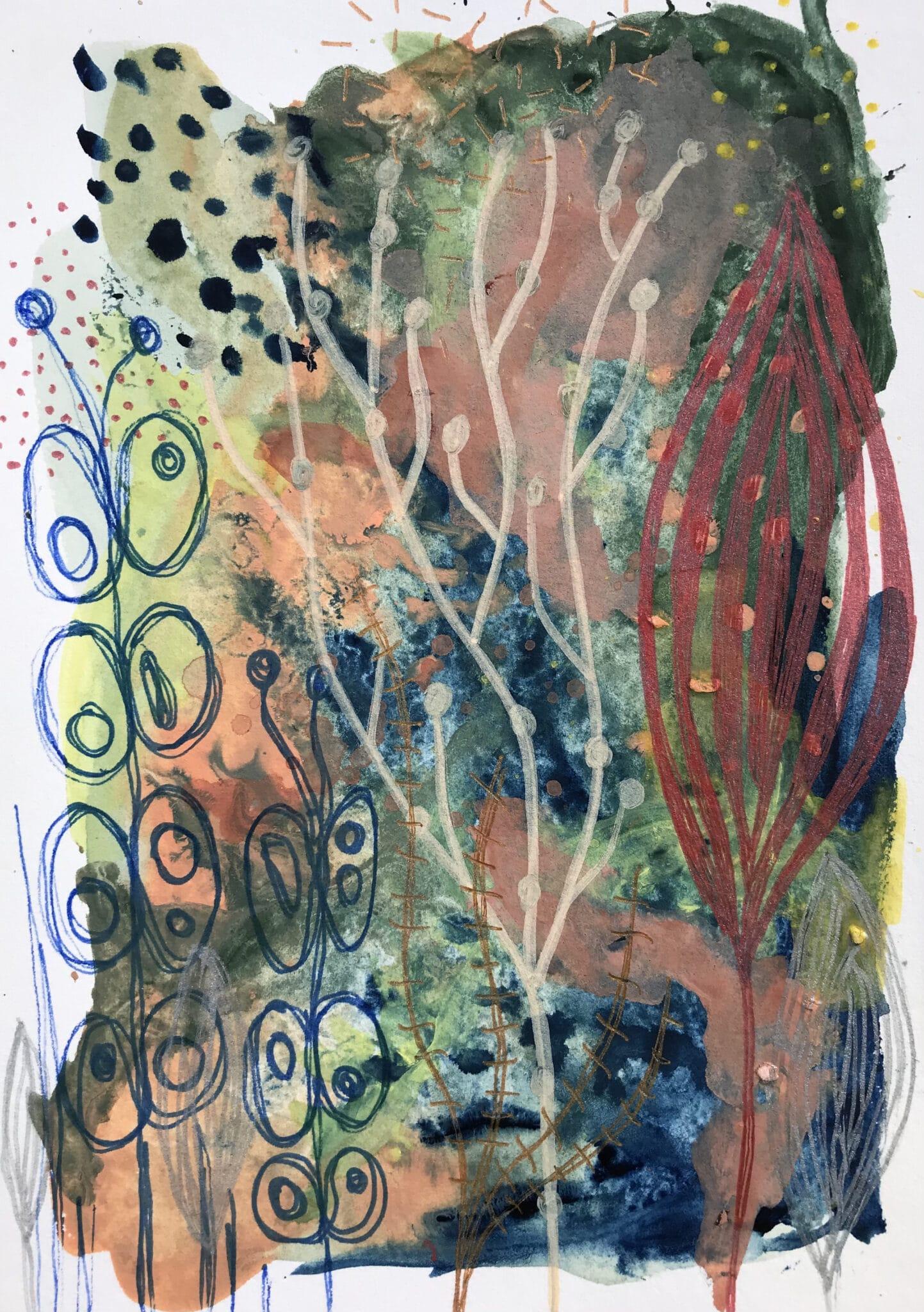 Grow With Me Set 1 – Mixed Media Original Artwork By Tish Willo Creative