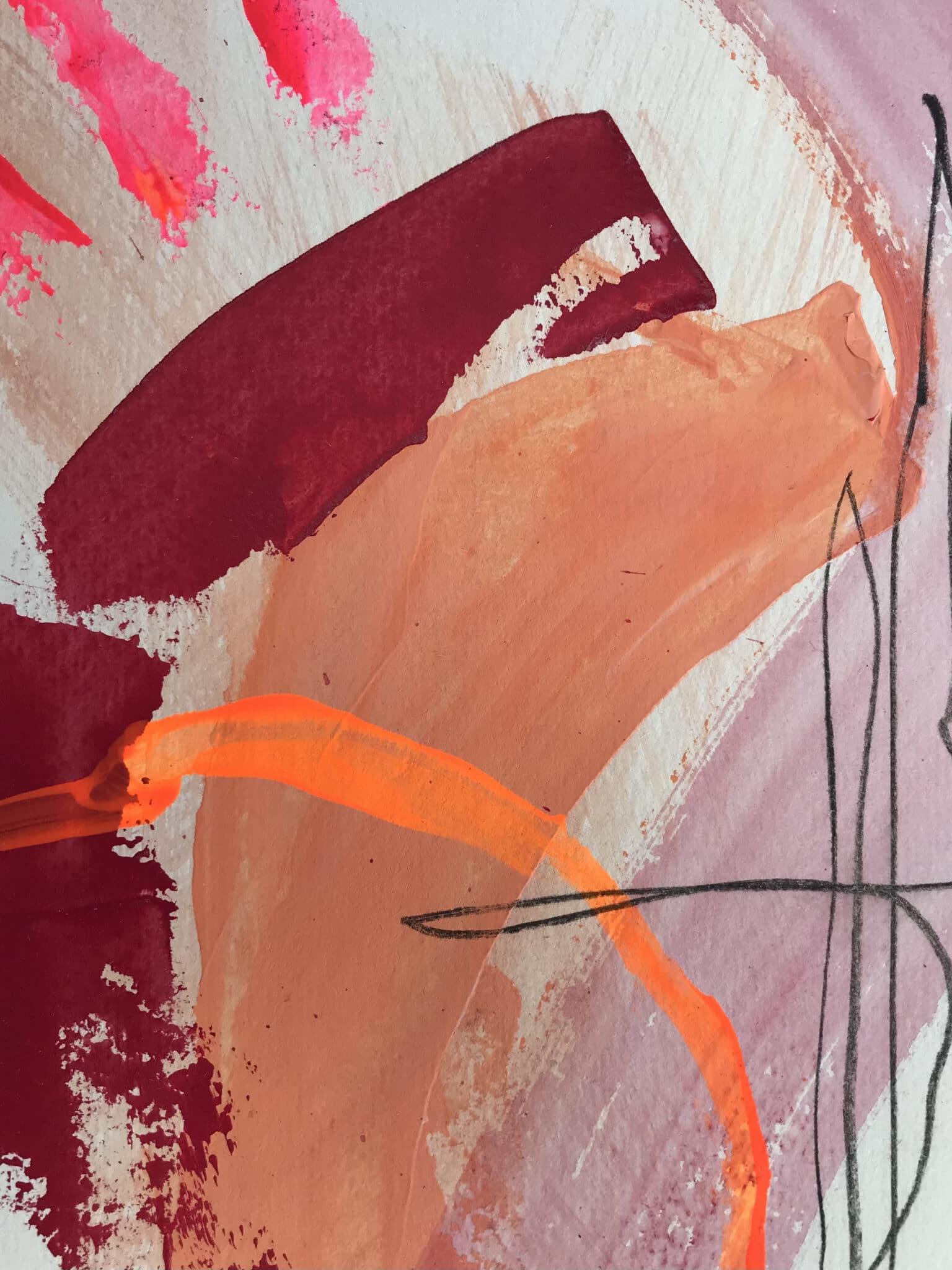 Colour & Shape 2 – Set Of 3 Mixed Media Artwork By Tish Willo Creative