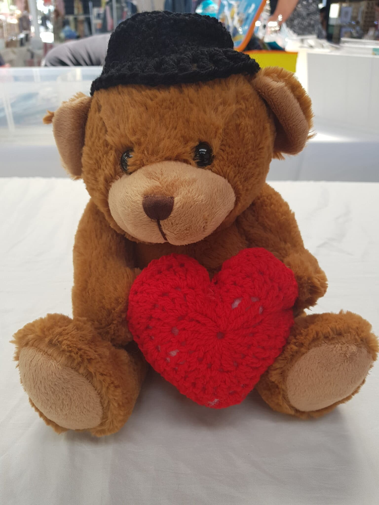 Bear With Heart By Bubbles And Gifts