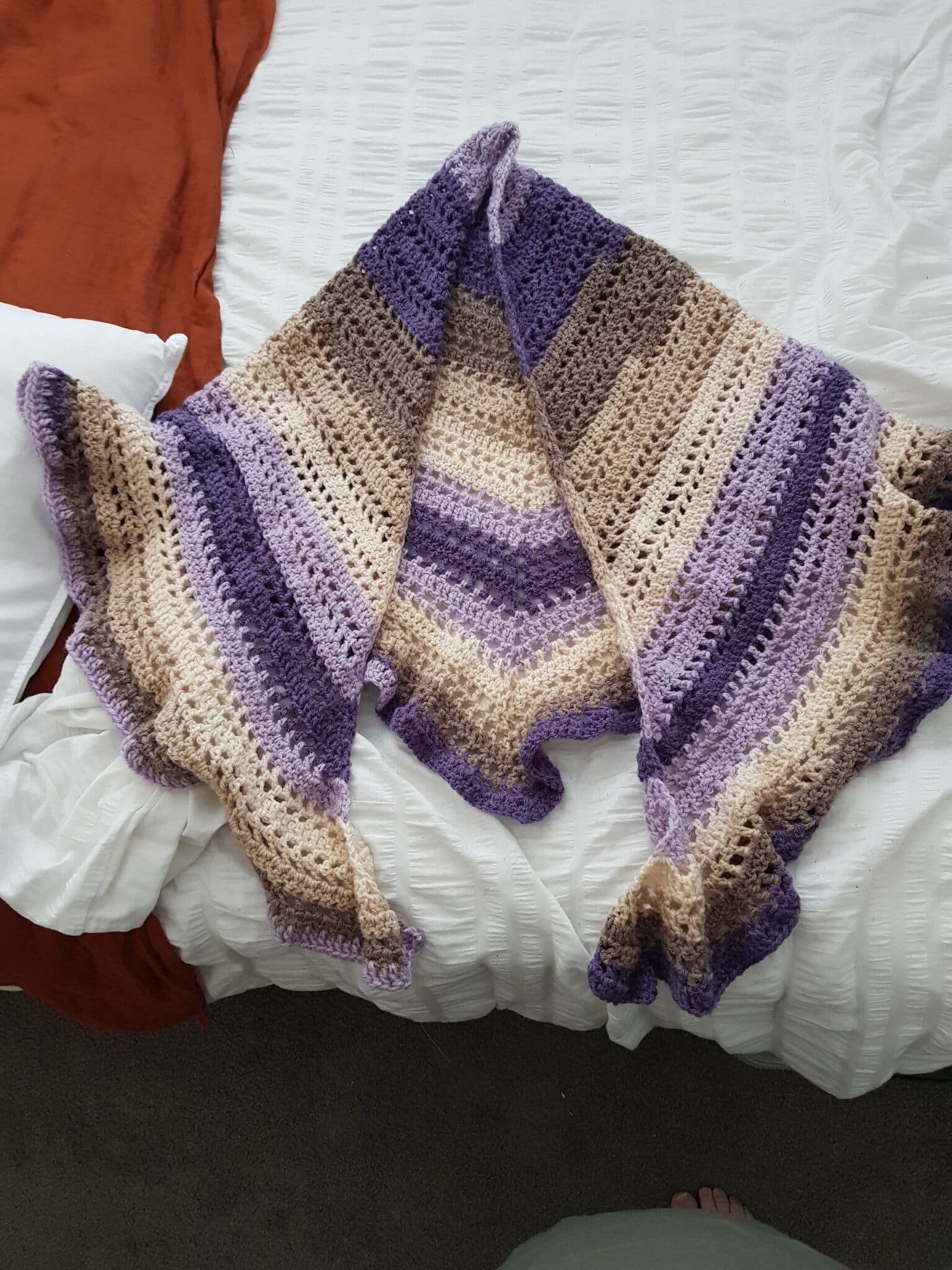 Striped Shawl By Bubbles And Gifts