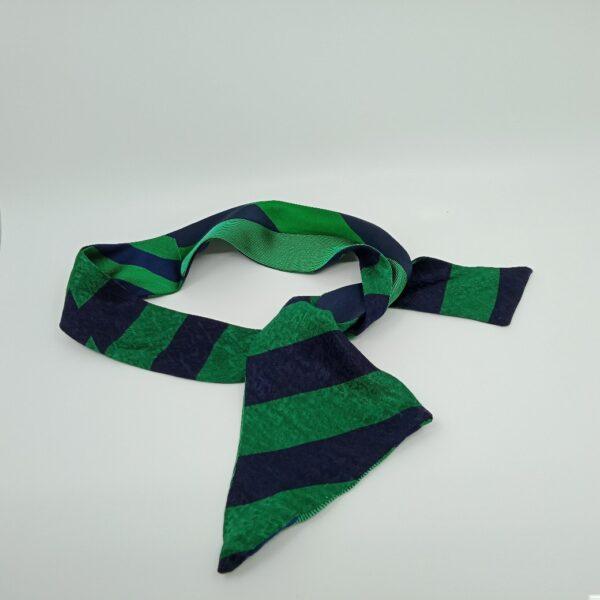green-and-navy-silk-headband-by-judith-scott-upcycling-by-judithscott