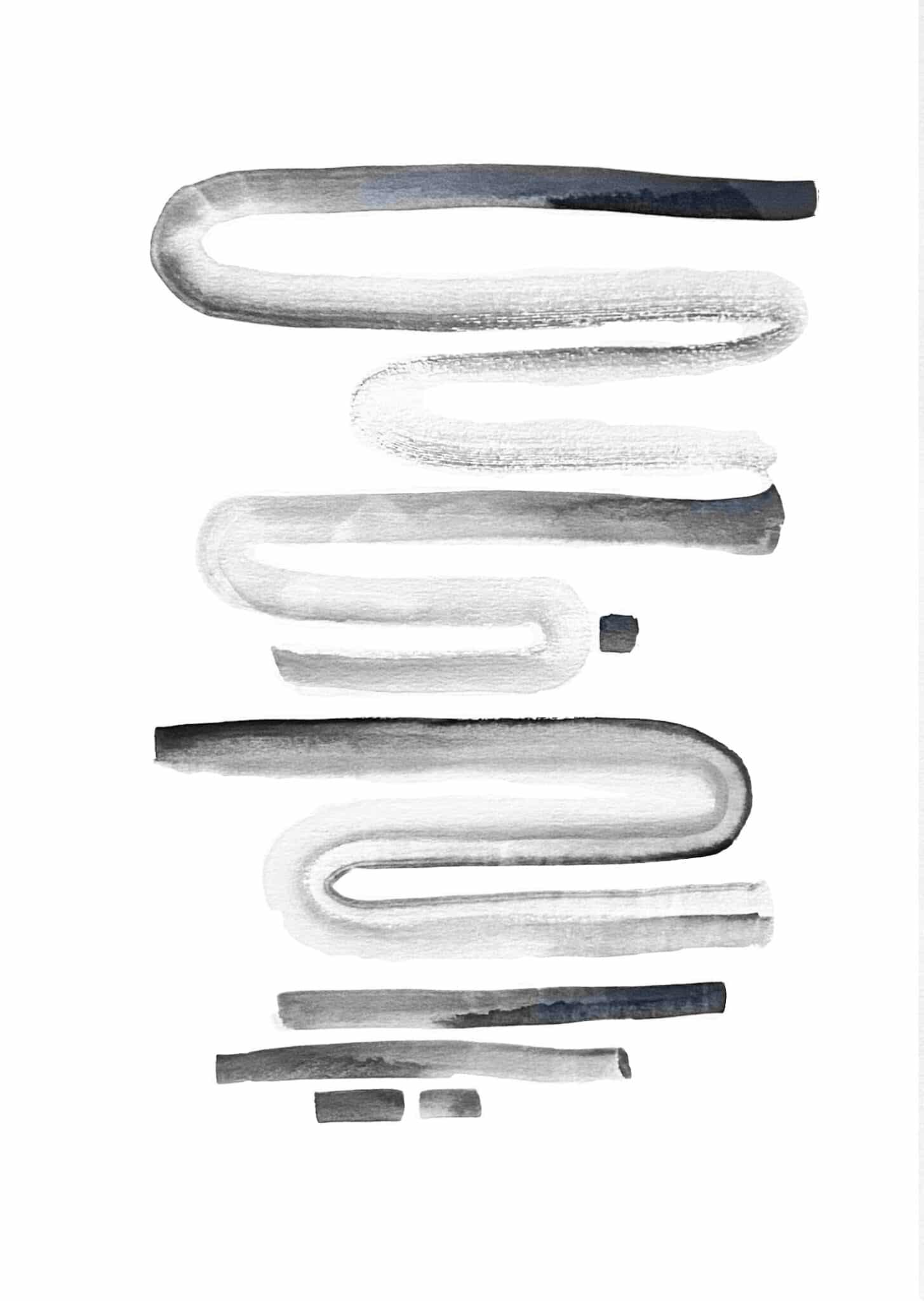Flow I By Amanda Wells  (Line Exhibition)