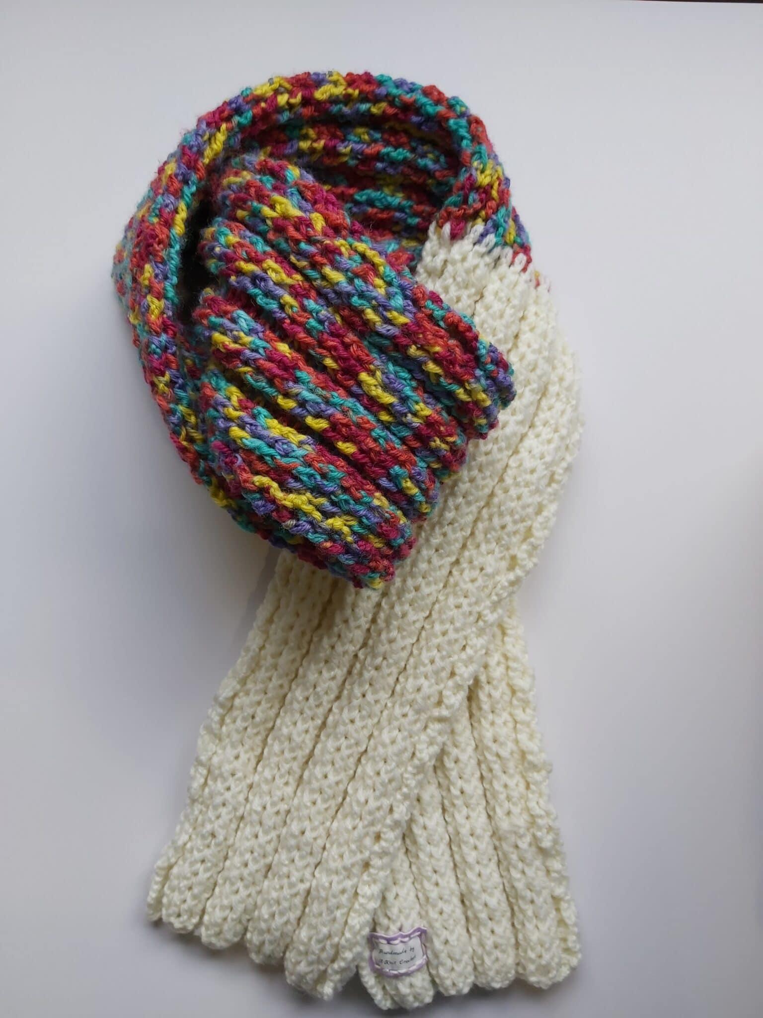 Carnivale Wool Scarf Handmade By U-Knit Crochet