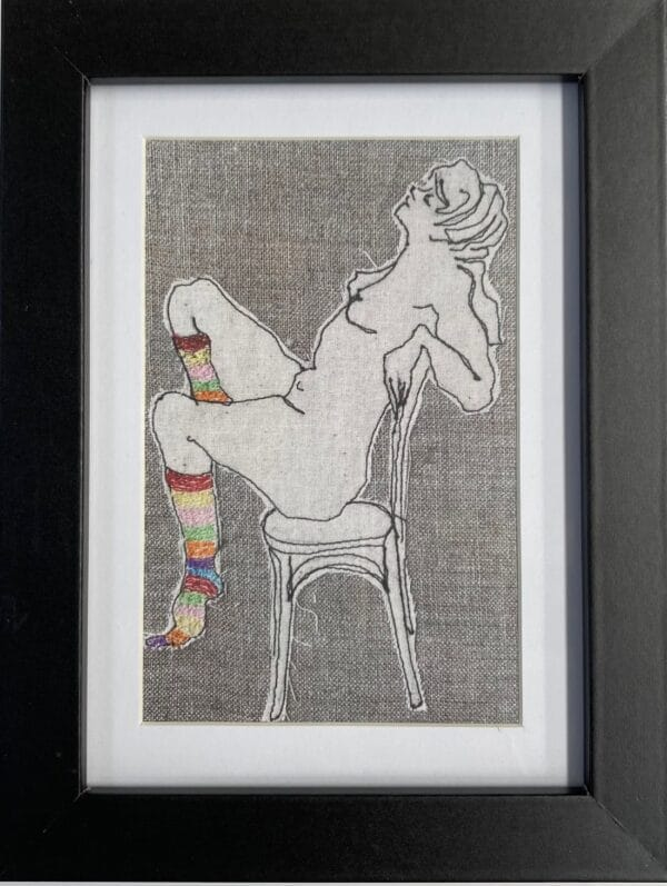ms-stripey-socks-ii-framed-artwork-print-by-juliet-d-collins-by-julietdcollins