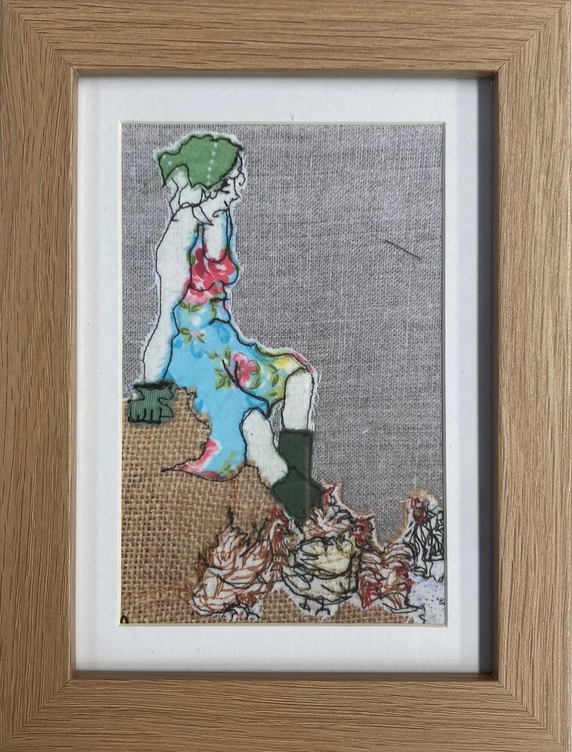 Mistress Of The Chickens Framed Artwork Print By Juliet D Collins