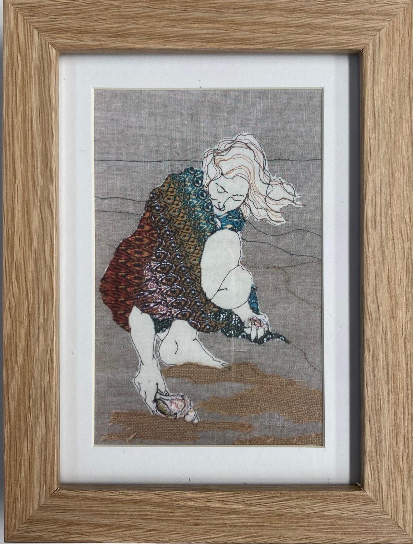 Shellfinder Framed Artwork Print By Juliet D Collins