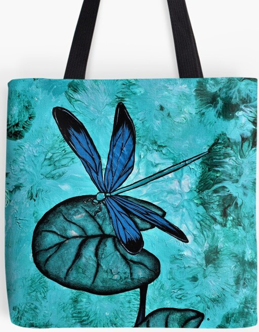 Dragonfly Tote Bag By Gem's Artistic Creations