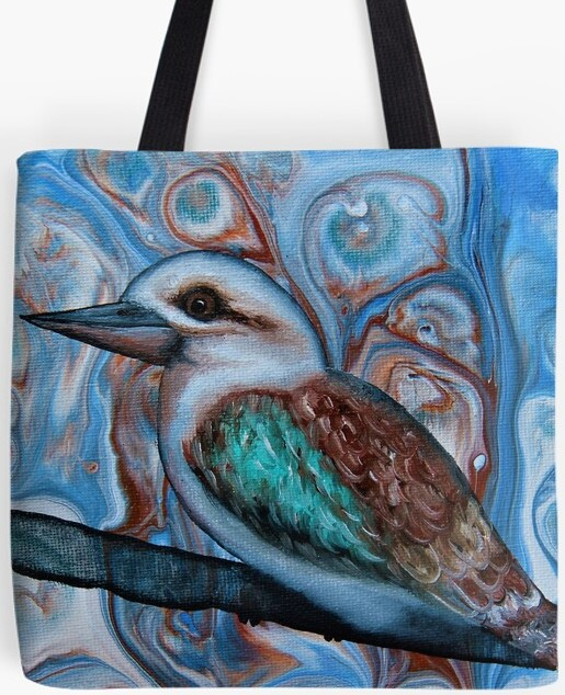 Kookaburra Tote Bag  By Gem's Artistic Creations