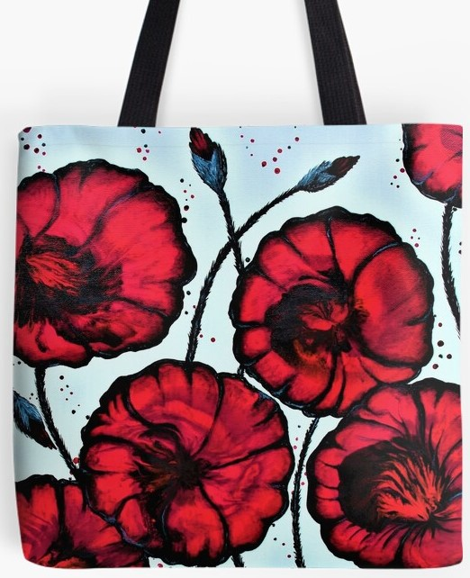 Poppy Fields Tote Bag By Gem's Artistic Creations