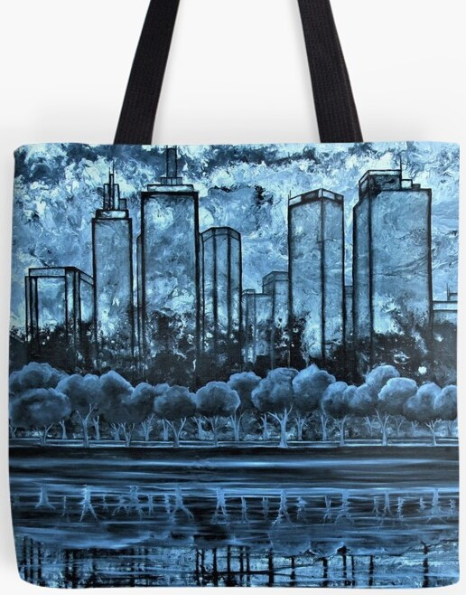 Melbourne Skyline Tote Bag By Gem's Artistic Creations