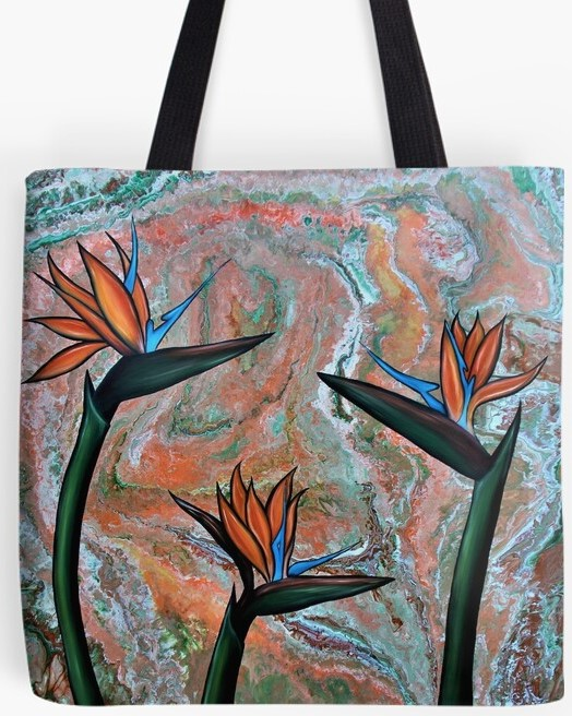 Bird Of Paradise Tote Bag By Gem's Artistic Creations