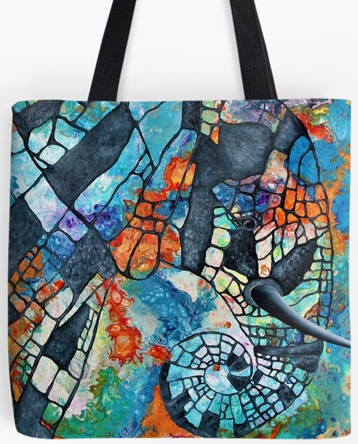 Abstract Africa Tote Bag By Gem's Artistic Creations
