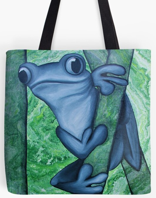 Tree Frog Tote Bag By Gem's Artistic Creations