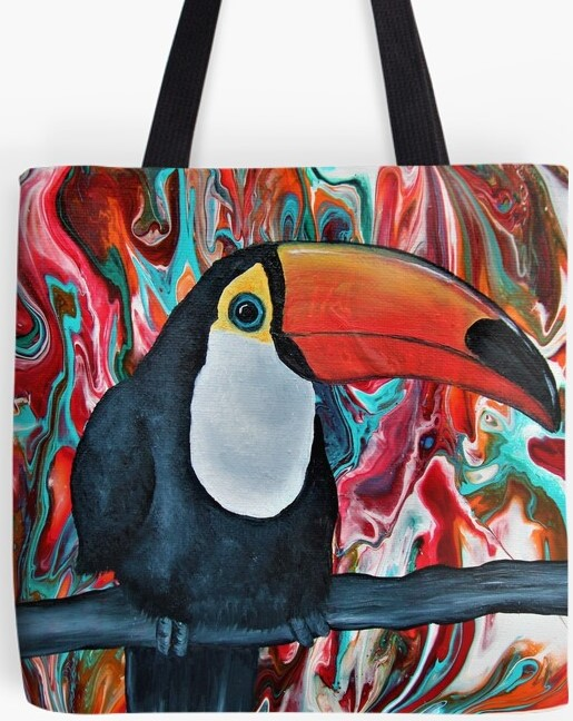 Toucan Tote Bag By Gem's Artistic Creations